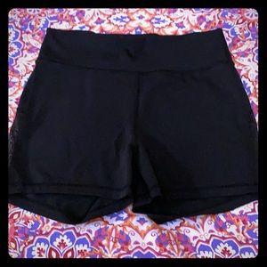 LIKE NEW Lululemon Black Everlux Mesh-Panel Shorts